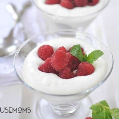 Raspberries with Almond Cream