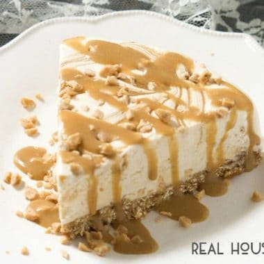 Skinny Caramel Toffee Ice Cream Cake