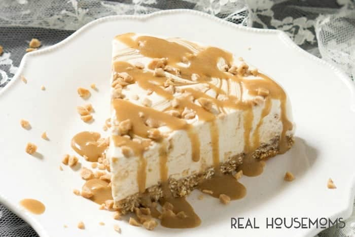 Skinny Caramel Toffee Ice Cream Cake | Real Housemoms