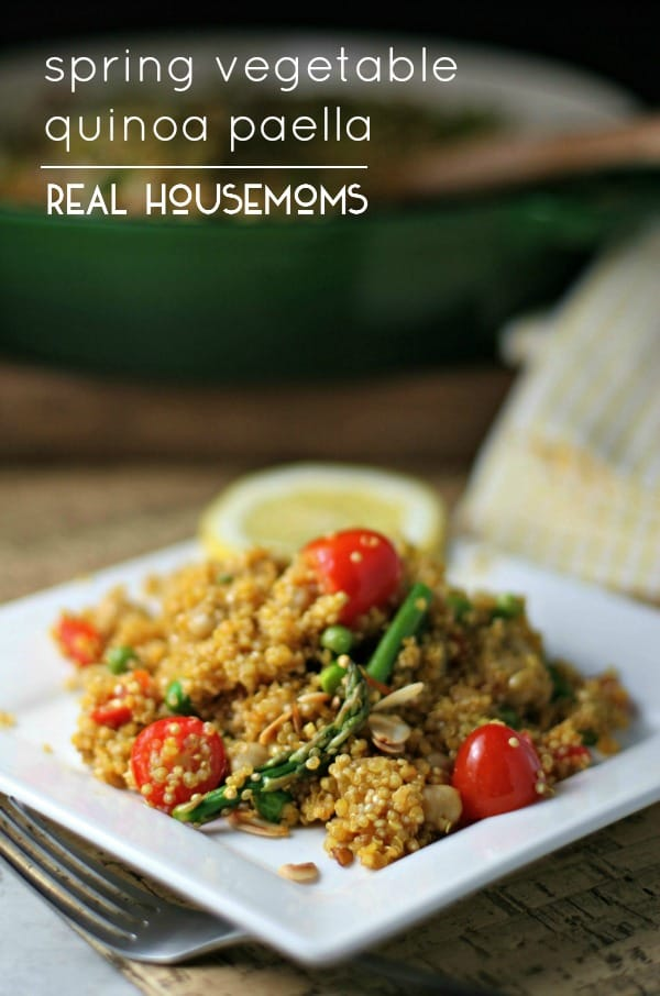Spring Vegetable Quinoa Paella | Real Housemoms