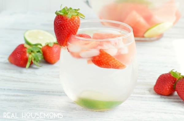 This Strawberry Watermelon Infused Water is naturally sweet. It makes the perfect refreshing drink for summer!
