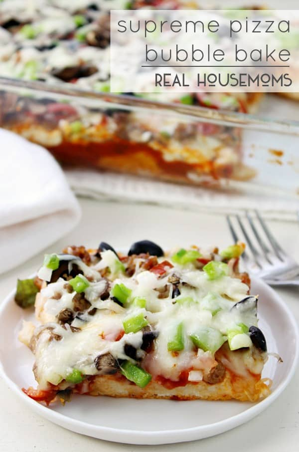 Supreme Pizza Bubble Bake | Real Housemoms