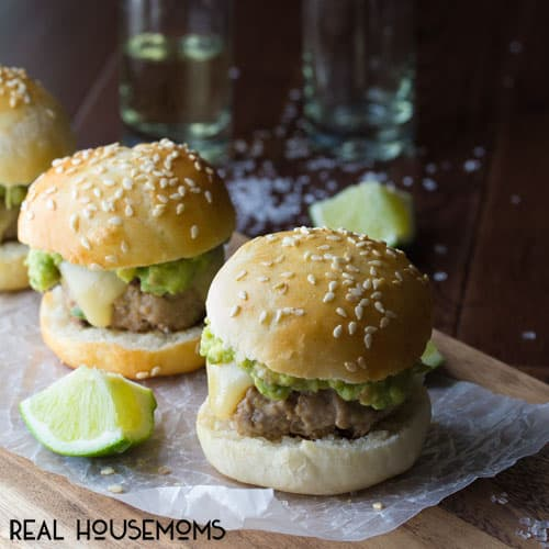 Tequila Turkey Sliders with Guacamole | Real Housemoms