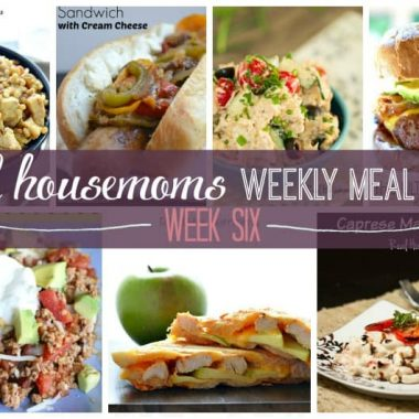Real Housemoms Weekly Meal Plan {Week 6} We've put together a weekly meal plan and shopping list to make your week a bit easier! We've got dinner for 7 nights planned so you don't have to worry!