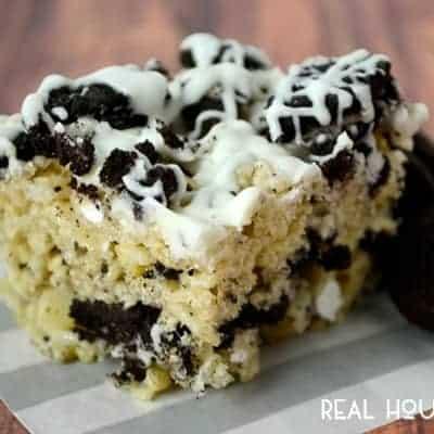 Cookies and Cream Krispy Treats