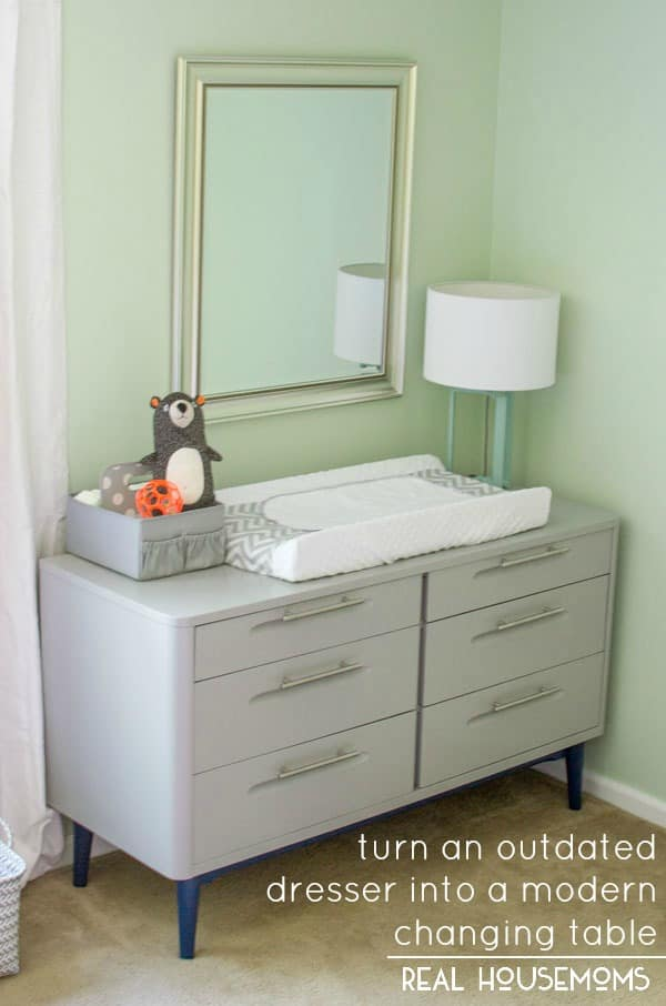 outdated dresser to modern changing table real housemoms. Black Bedroom Furniture Sets. Home Design Ideas