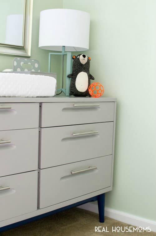 Turn an Outdated Dresser Into a Modern Changing Table | Real Housemoms