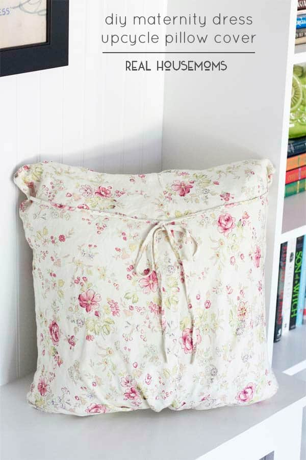 A DIY Maternity Dress Pillow Cover is a great way to hold onto those sweet memories without clogging up your closet. Here's an easy tutorial on how to make your own!