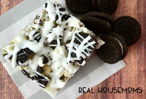 Cookies and Cream Krispy Treats | Real Housemoms