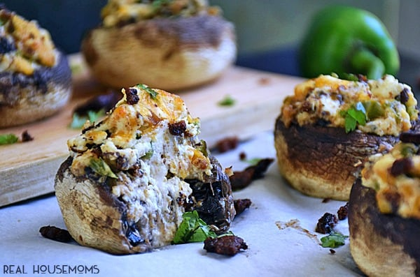 Jalapeno Popper Stuffed Mushrooms are a twist on those spicy, cheesy poppers you just might love even more!