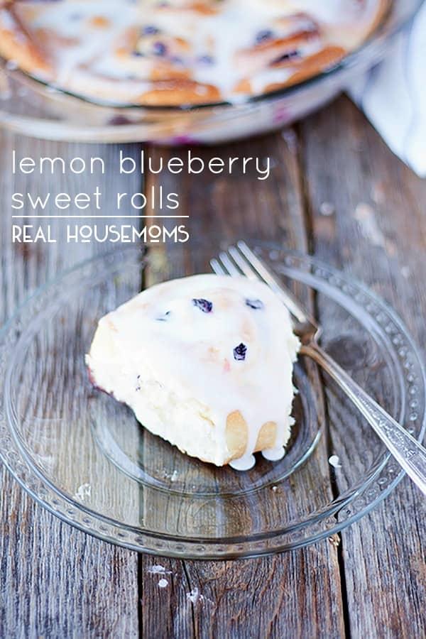 Lemon Blueberry Sweet Rolls | Real Housemoms
