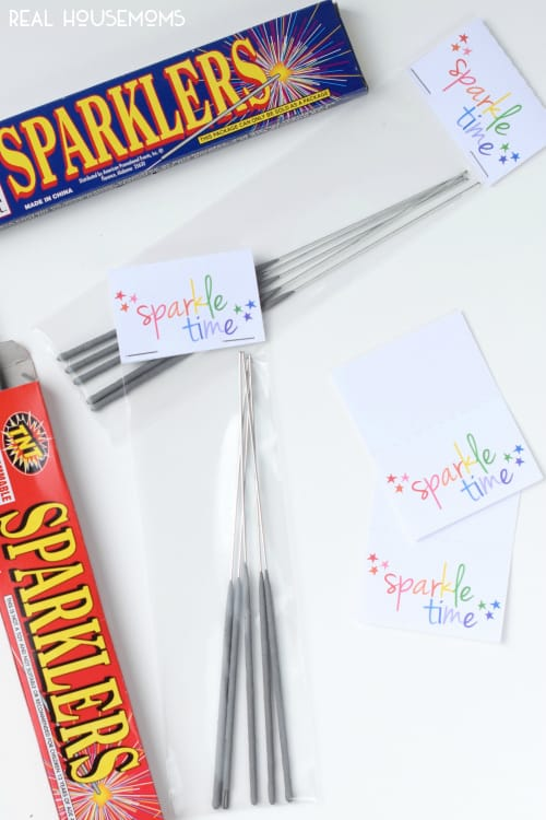 Sparkler Printables! Perfect for a summer birthday party! Available in Rainbow and Red, White, & Blue! Get the PDF or Silhouette cut and print file!