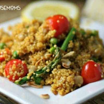 Spring Vegetable Quinoa Paella