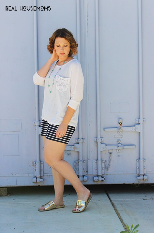 Three Ways to Wear Striped Shorts | Real Housemoms