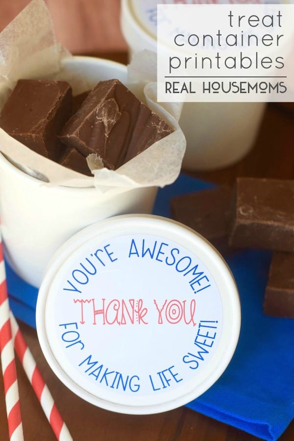 Treat Container Printables | Real Housemoms