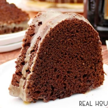 This adults-only Chocolate Kahlúa Bundt Cake is perfect for girls night, game night!