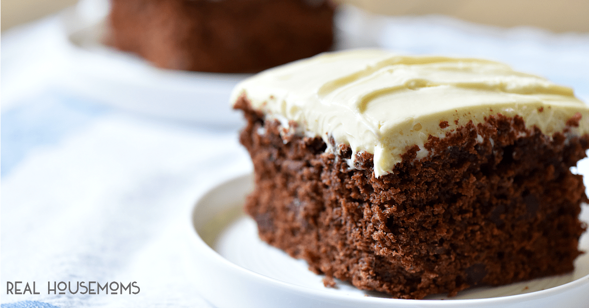 Chocolate Zucchini Cake with Cream Cheese Frosting ⋆ Real ...
