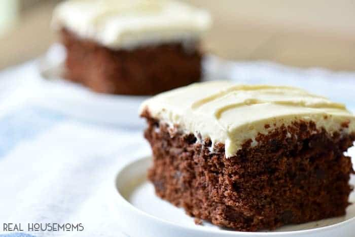 Chocolate Zucchini Cake is my new go to for a tasty dessert that I can sneak some greens in on my kids!