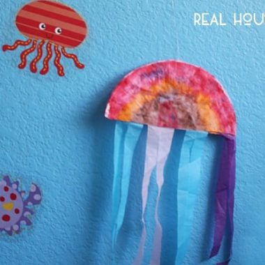 Coffee Filter Jellyfish Craft