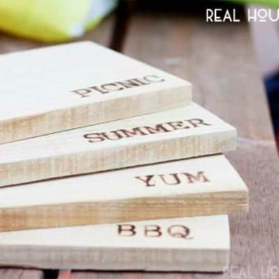 DIY Wooden Picnic Chargers