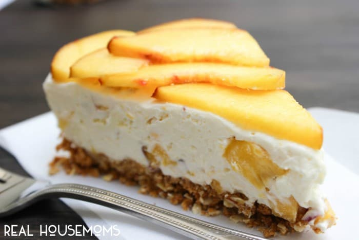 This Fresh Peach No-Bake Cheesecake is just as delicious as it looks!