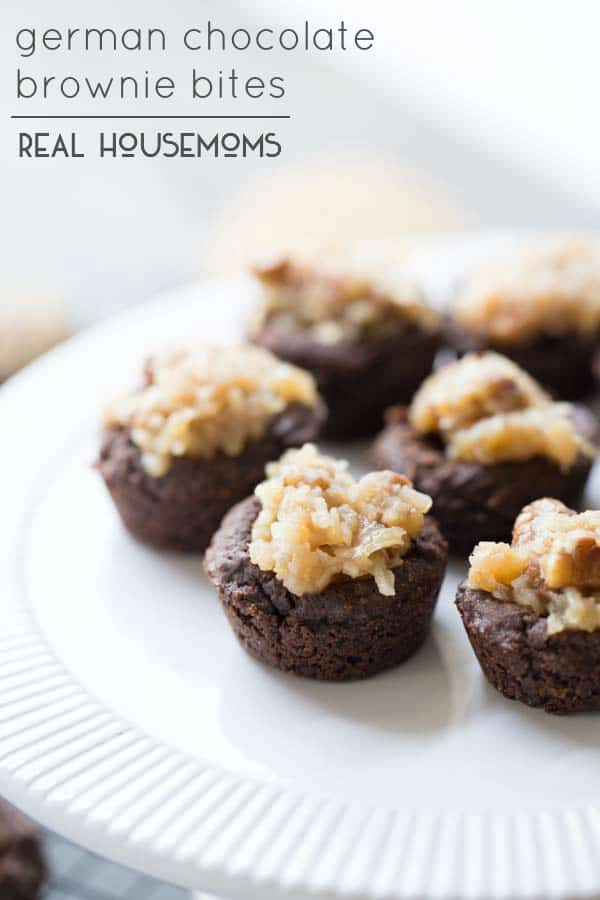 German Chocolate Brownie Bites are craveable brownie bites that taste just like German chocolate cake!