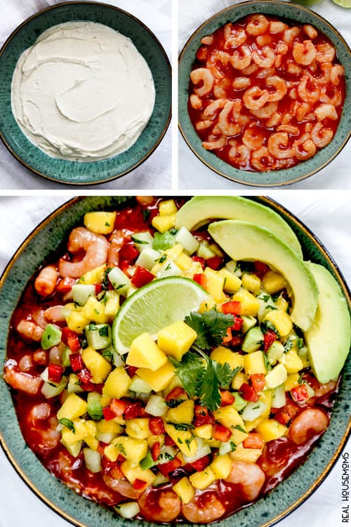 10 minute prep, stress free, make ahead, sweet and spicy Honey Sriracha Island Shrimp Dip will make you the hero of every summer get together!