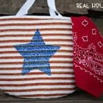 Patriotic Painted Tote