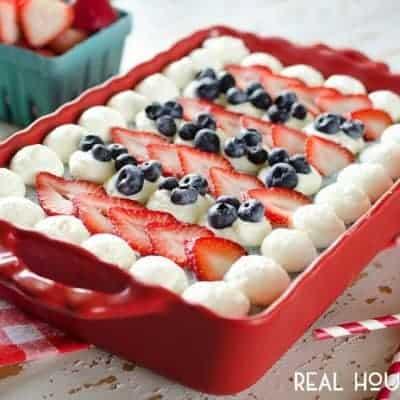 Red, White & Blue Berry Frozen Dessert