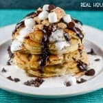 S'Mores Chocolate Chip Pancakes