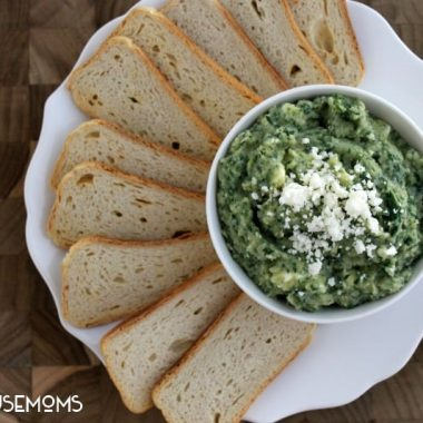 Spinach and Artichoke White Bean Dip