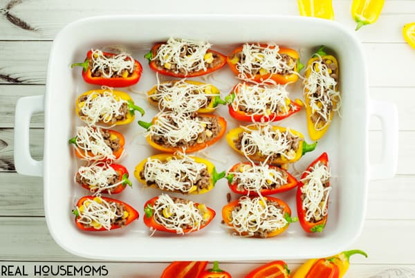 Bite sized Stuffed Sweet Peppers pack a flavorful punch that's perfect for your next summer party!
