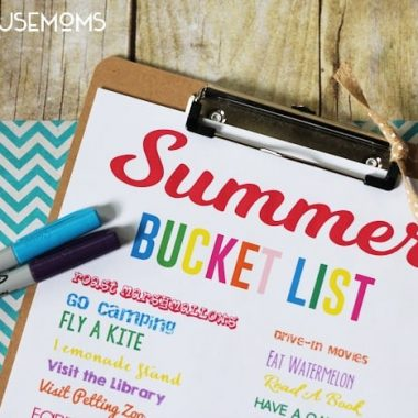 Never run out of ideas this summer to keep your kids busy by keeping this printable Summer Bucket List handy!