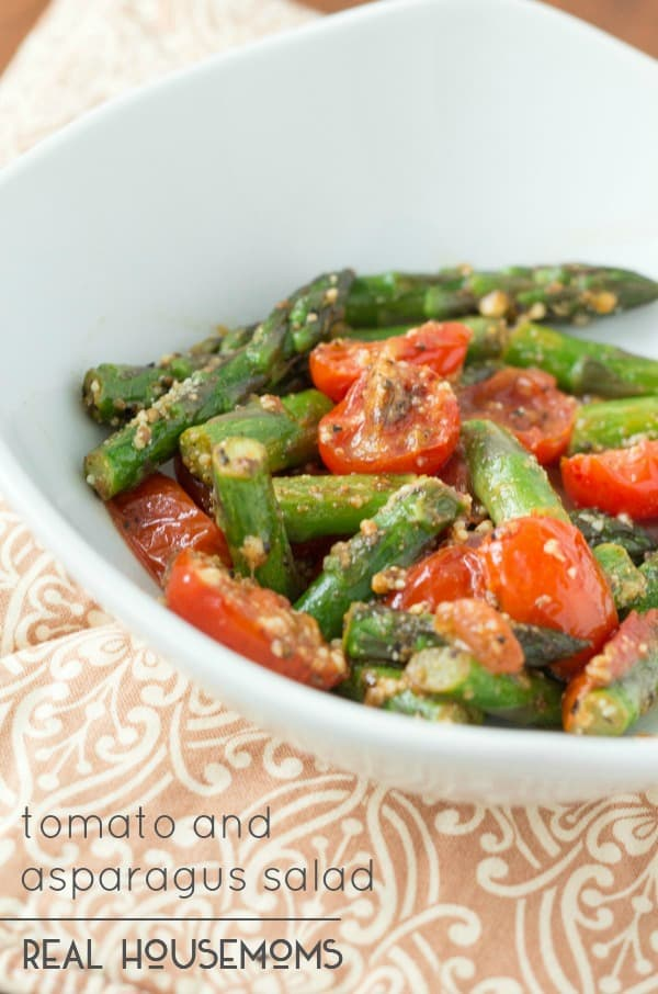 Tomato and Asparagus Salad is not only refreshing and delicious, but it is also a healthy dish that's perfect for the summertime!
