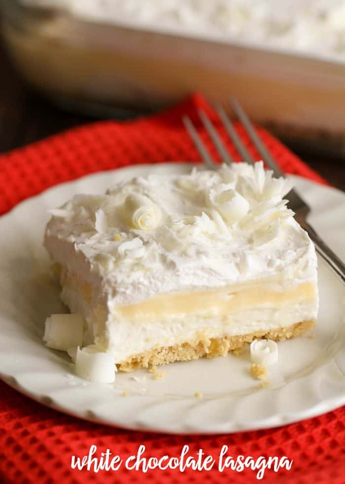 White Chocolate Lasagna - Lil' Luna
