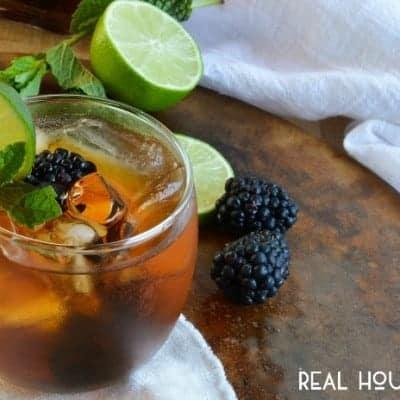 Blackberry, Lime, and Mint Sun Tea