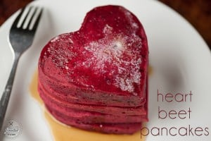 Heart Beet Pancakes | Self Proclaimed Foodie