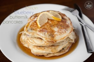 Lemon Blueberry Buttermilk Pancakes | Self Proclaimed Foodie