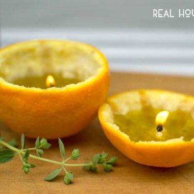Orange Rind Citrus Candles | Real Housemoms
