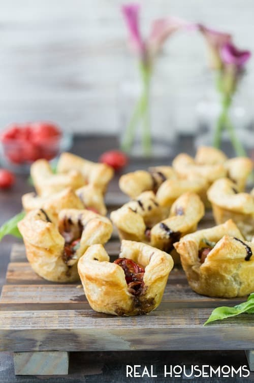 Puff Pastry Caprese Cups | Real Housemoms