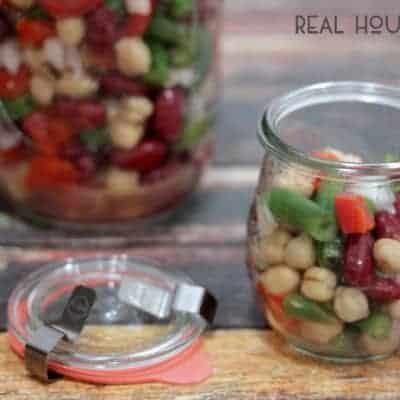 Three Bean Salad in a Jar