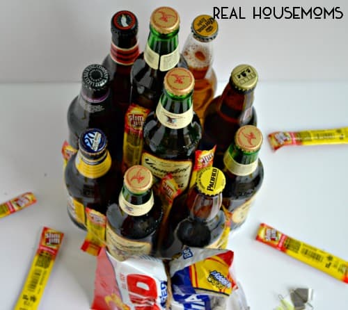 Father's Day Beer Cake Gift Idea | Real Housemoms