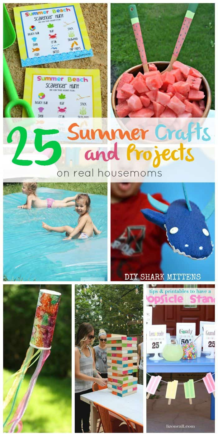 Bring a little more fun into your summer with these 25 Summer Crafts and Projects! From the beach to the backyard, you'll find it all!
