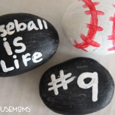 Baseball Painted Rocks