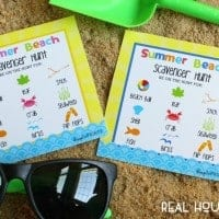 Give the kids something fun to do on your summer vaction with our Free Beach Scavanger Hunt Printable!