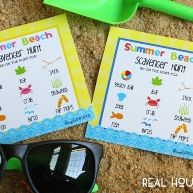 Free Beach Scavenger Hunt Printable