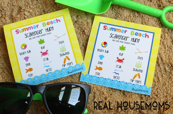 Give the kids something fun to do on your summer vaction with our Free Beach Scavenger Hunt Printable!