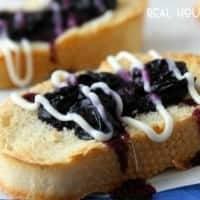 Quick easy Blueberry Dessert Bruschetta is ready in 10 minutes!