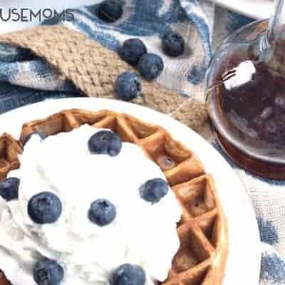 Blueberry Vanilla Protein Waffles