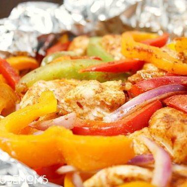 Grilled Chicken Fajita Foil Packet Meal